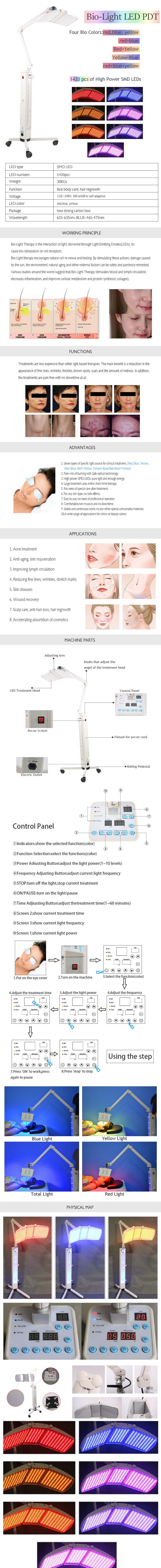 KMS020 LED Light Therapy Machine with 7 light colors product details