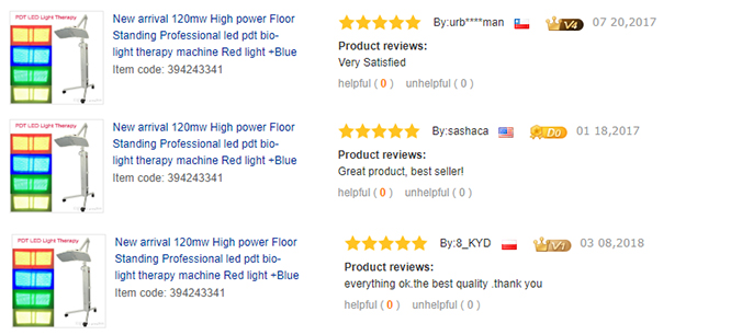 LED Light therapy machine with 4 light colors Testimonial