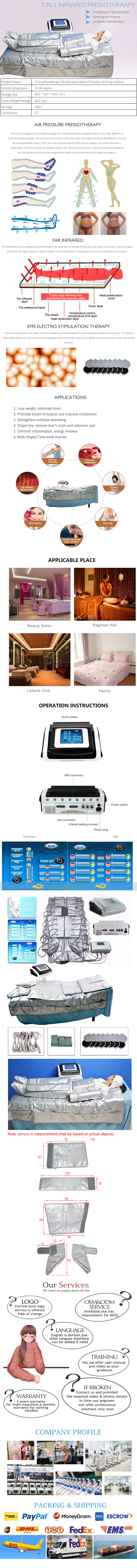 Pressotherapy machine 3 in 1 SA01 product details