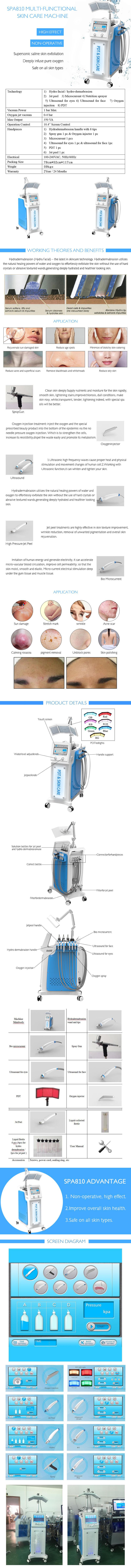 SPA810 Hydro Peel Machine product details