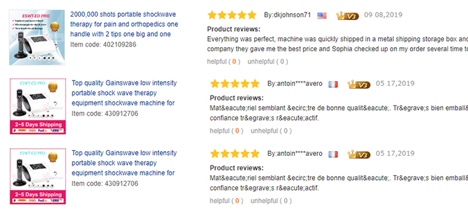 Shockwave Therapy Machine Series Reviews
