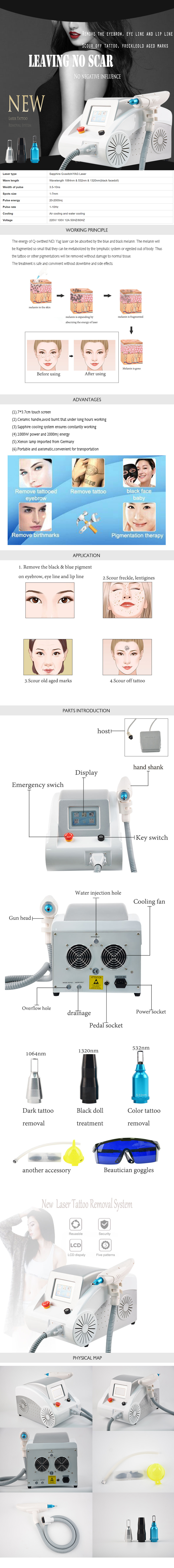 YG01 Yag Laser Tattoo Removal Machine product details