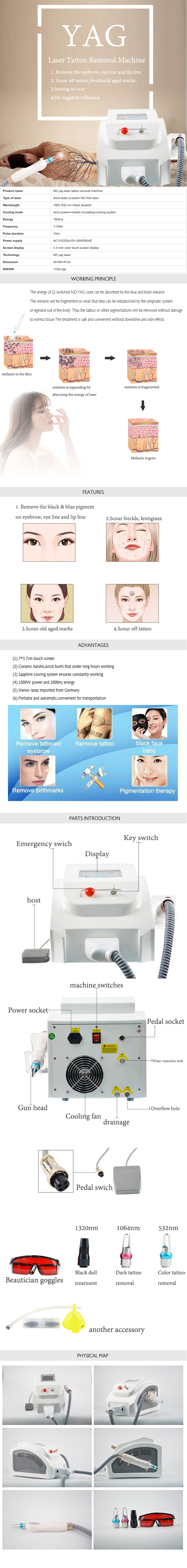 YG03 Yag Laser Tattoo Removal Machine product details