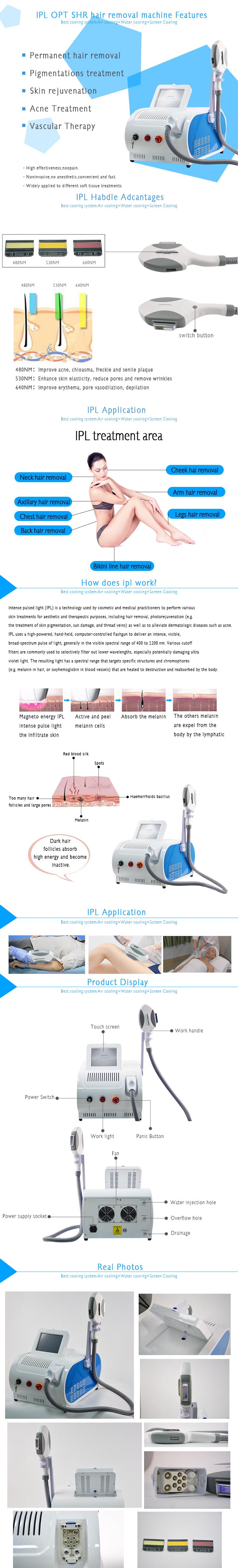 IPL hair removal machine-Product Description