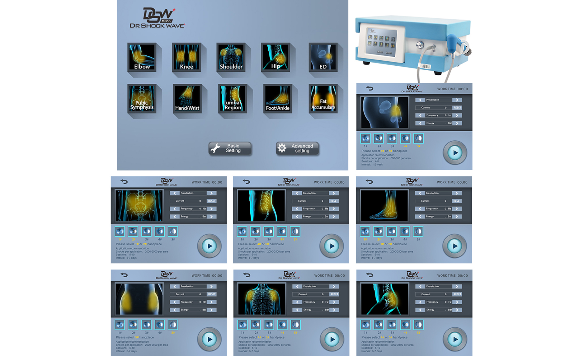 SW24 shockwave therapy machine4