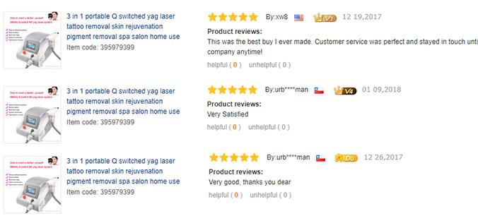 YG01 Yag Laser Tattoo Removal Machine-Testimonial